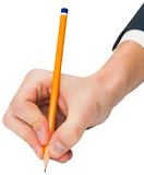 Hand writing with a pencil Stock Image