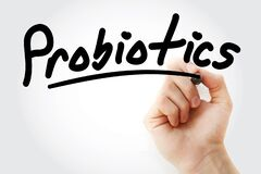 Hand writing Probiotics with marker