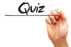 Hand writing Quiz, business concept Stock Photos