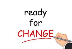 Hand writing ready for change Royalty Free Stock Photography