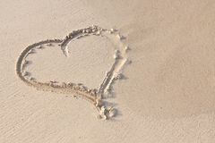 Hand writing in sand in summer holidays on beach Royalty Free Stock Photo