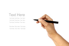 Hand writing. Some text in white background royalty free stock photo