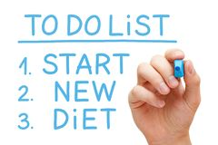 Start New Diet To Do List Royalty Free Stock Image