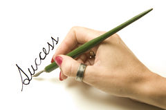 Hand writing success  Stock Photo