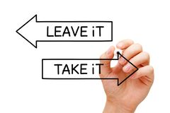 Take It Or Leave It Arrows Concept royalty free stock images
