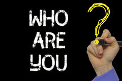 Hand writing the text: Who Are You. ? royalty free stock image