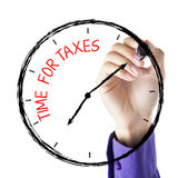 Hand Writing Time For Taxes Royalty Free Stock Photography