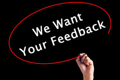 Free Hand Writing We Want Your Feedback Stock Photos - 88031593