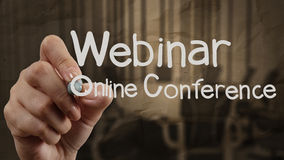 Hand writing Webinar Stock Photos