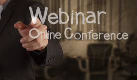 Hand writing Webinar Stock Images