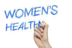 Hand writing women's health Stock Photos