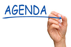 Free Hand Writing Word Agenda Stock Photo - 36001360