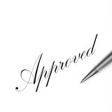 Approved letter Royalty Free Stock Photos