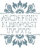 Hand written ABC letters. Vector set with hand written ABC letters Stock Images