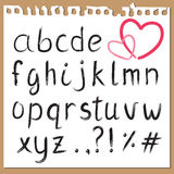 Hand written alphabet Royalty Free Stock Images