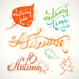 Hand-written Autumn Lettering. Royalty Free Stock Photo