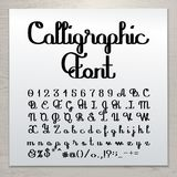 Hand written calligraphic script Stock Photography