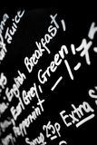 Hand written chalk menu board featured the word Breakfast promin Stock Photography