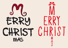 Hand written Christmas card, vector Stock Photos