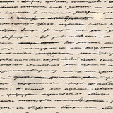 Hand written draft text. seamless background Royalty Free Stock Photography