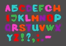 Hand written font. Black English alphabet on white background. Stock Photo