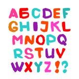 Hand written font. English alphabet on white background. Stock Image