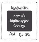 Hand written font Stock Image