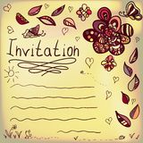 Hand written frame with colorful doodling elements. And place for your text Vector Illustration