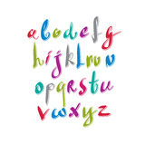 Hand written fresh vector font, stylish drawn alphabet Stock Photos