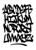 Hand written graffiti font alphabet. Vector Royalty Free Stock Photography