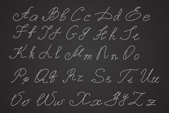 Hand written or hand drawn letters, script letters Stock Photos