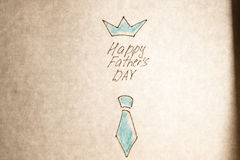 Hand written Happy fathers day Royalty Free Stock Images