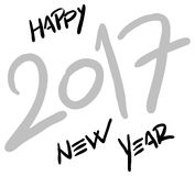 Hand written happy new year 2017 - vector Stock Photo