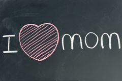 Hand written I love MOM Royalty Free Stock Image