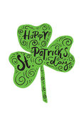 The hand written inscription Happy St. Patrick's Day Royalty Free Stock Photos