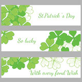 The hand written inscription Happy St. Patrick's Day Royalty Free Stock Photography