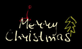 Hand written inscription Merry Christmas Royalty Free Stock Photo