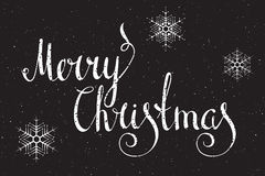 Hand written inscription Merry Christmas Royalty Free Stock Photography
