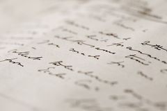 Hand-written letter Royalty Free Stock Images