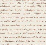 Hand written letter - seamless text Lorem ipsum. Repeating pattern. Vintage hand written letter - seamless text Lorem ipsum. Repeating note pattern, handwritten royalty free stock photo