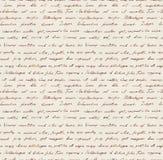Hand written letter - seamless text Lorem ipsum. Repeating pattern. Vintage hand written letter - seamless text Lorem ipsum. Repeating note pattern, handwritten Royalty Free Stock Photos
