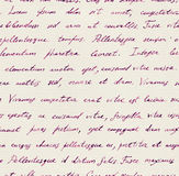 Hand written letter - seamless text Lorem ipsum. Repeating pattern. Vintage hand written letter - seamless text Lorem ipsum. Repeating note pattern, handwritten Stock Photography