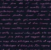 Hand written letter - seamless text Lorem ipsum. Repeating pattern. Vintage hand written letter - seamless text Lorem ipsum. Repeating note pattern, handwritten Stock Image