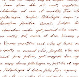 Hand written letter - seamless text Lorem ipsum. Repeating pattern. Vintage hand written letter - seamless text Lorem ipsum. Repeating note pattern, handwritten Stock Photos