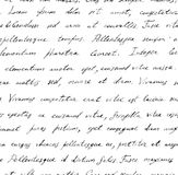 Hand written letter - seamless text Lorem ipsum. Repeating pattern Stock Photography
