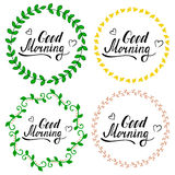 Hand written lettering Good morning Royalty Free Stock Photography