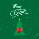 Hand written lettering of Merry Christmas vintage text Royalty Free Stock Photo