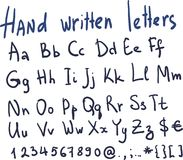 Hand written letters in vector Stock Image