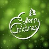 Hand written merry christmas lettering  Stock Image