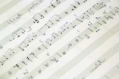 Hand-written music score Royalty Free Stock Image